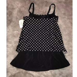 St. John's Bay Swim - Polka Dot Swimdress St Johns Bay Slender Swimsuit